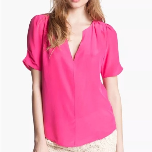 0062052a3e0e9d Joie Tops | Amone Silk Fuschia Pleat Blouse | Poshmark